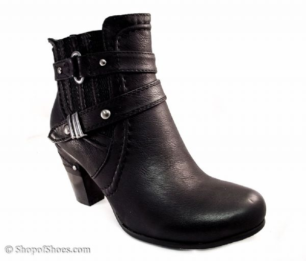 Cats Eys Black ankle boot.